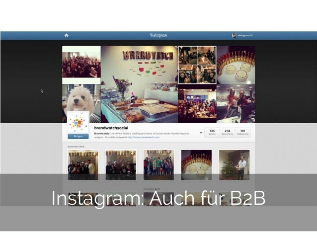 © 2014 Gnocchi Digital Marketing 29 Instagram: Auch für B2B