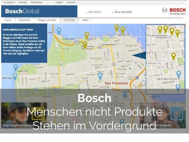 © 2014 Gnocchi Digital Marketing Bosch Menschen nicht Produkte Stehen im Vordergrund