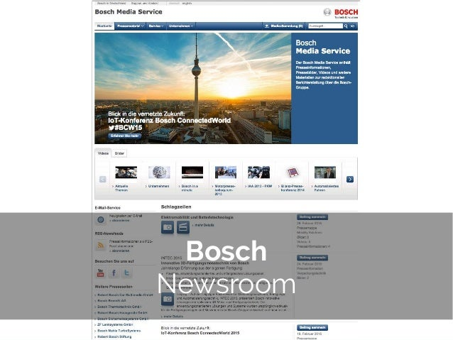 © 2014 Gnocchi Digital Marketing Bosch Newsroom