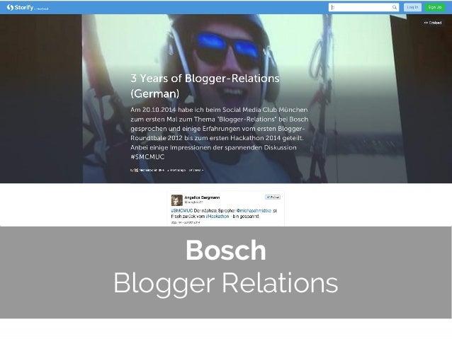 © 2014 Gnocchi Digital Marketing Bosch Blogger Relations