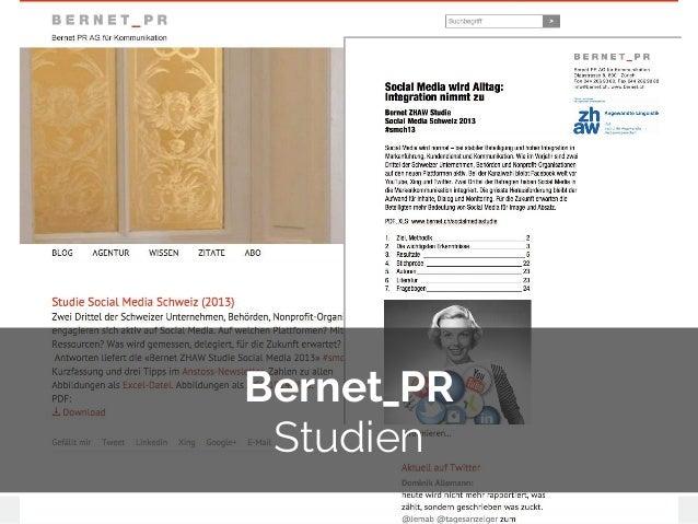 © 2014 Gnocchi Digital Marketing Bernet_PR Studien