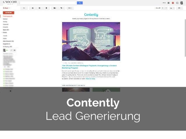 © 2014 Gnocchi Digital Marketing Contently Lead Generierung