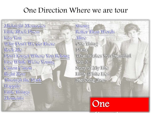 Where We Are Tour One Direction