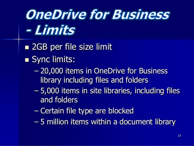 Going to the Cloud with Onedrive