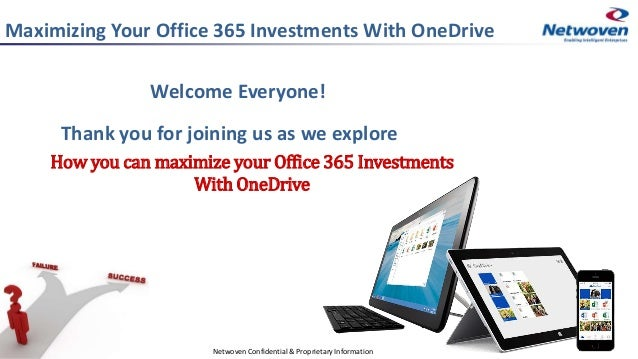 Maximizing Your Office 365 Investments With OneDrive