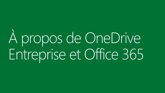 one drive entreprise