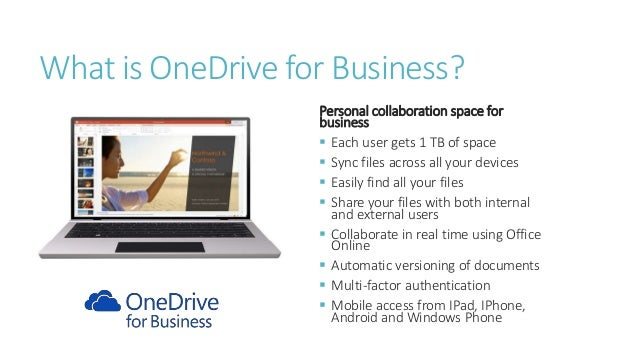 using onedrive for business