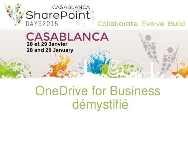 OneDrive for Business démystifié