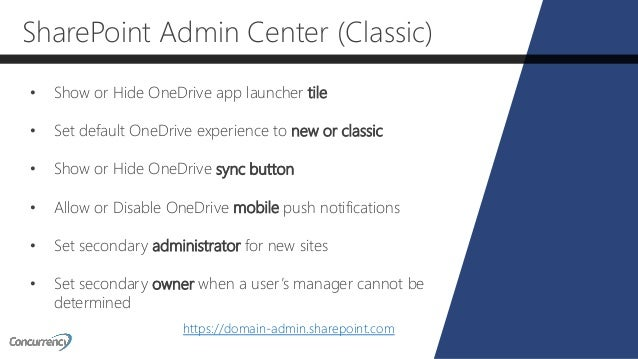 OneDrive for Business for Administrators - SPS New York 2018