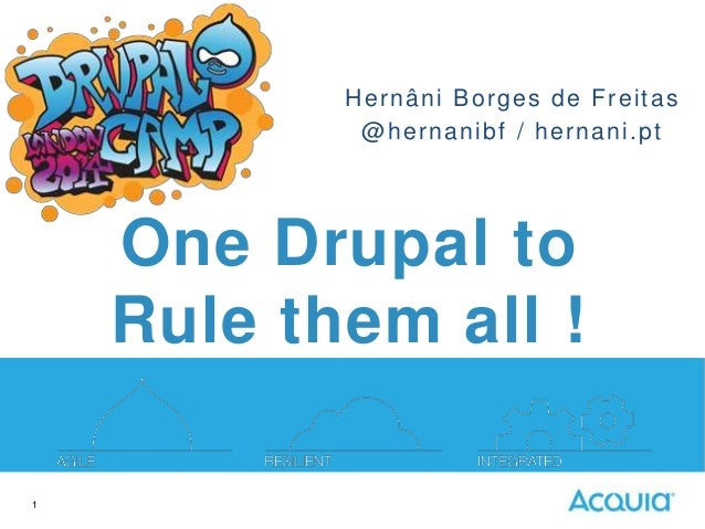 Hernâni Borges de Freitas @hernanibf / hernani.pt  One Drupal to Rule them all ! 1