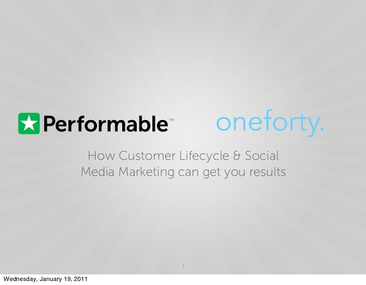 TM                         How Customer Lifecycle & Social                        Media Marketing can get you results     ...