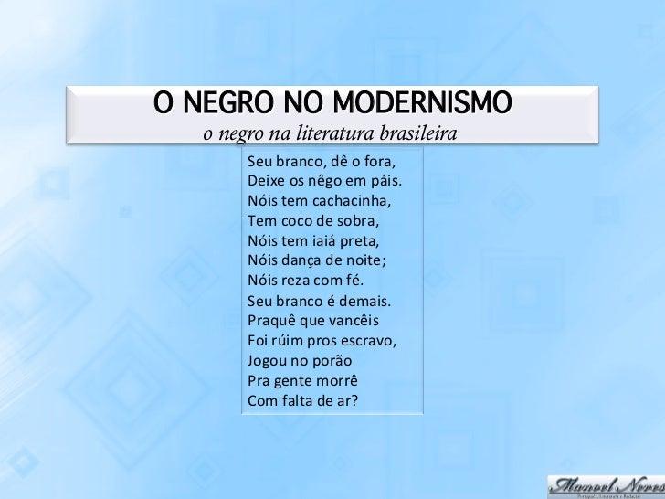 O Negro Na Literatura Brasileira