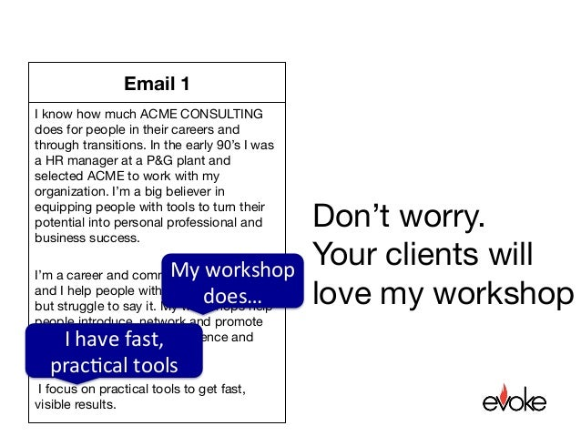 One hook email example