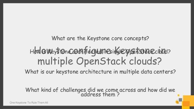 One Keystone to Rule Them All Slide 2