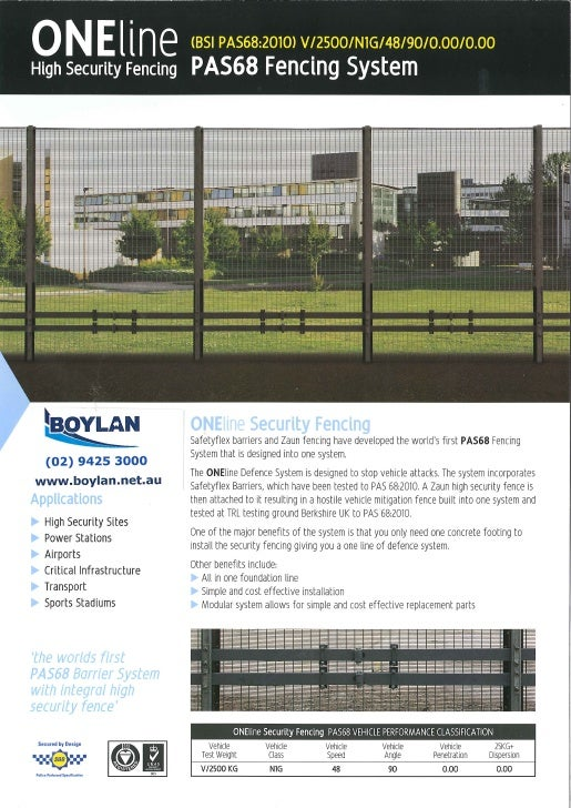 OneLine high security fencing