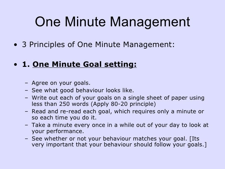 leadership paper on the one minute manager Leadership and the one minute manager : increasing effectiveness through  situational leadership [kenneth h blanchard  document type: book all  authors.