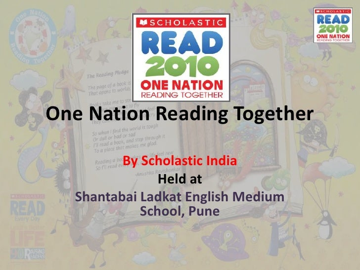 One Nation Reading Together<br />By Scholastic India<br />Held at<br />ShantabaiLadkat English Medium School, Pune<br />