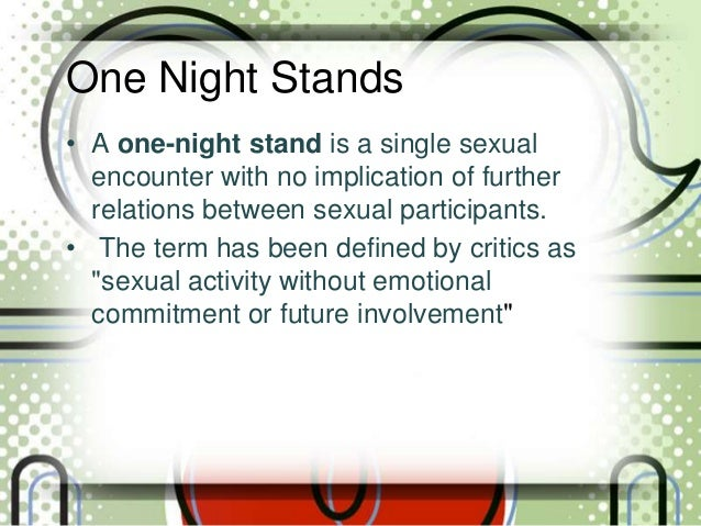 Sexual encounter meaning