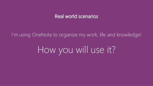"""OneNote - helps you to """"keep tabs on your live"""""""