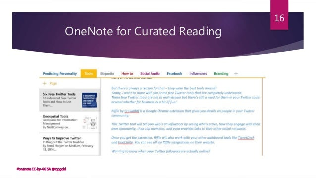 Using OneNote for Teaching and Learning