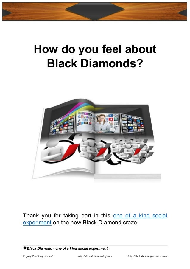 Black Diamond - one of a kind social experiment Royalty Free Images used http://blackdiamondrising.com http://blackdiamond...