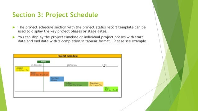 one page effective project status report