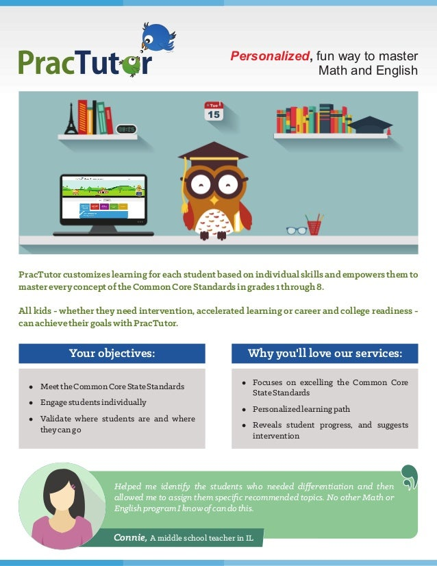 Personalized, fun way to master Math and English