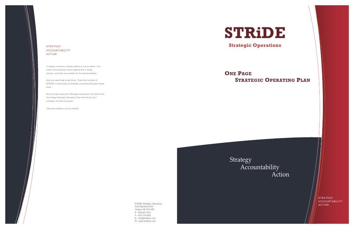STRiDE                                                                                               Strategic Operations ...