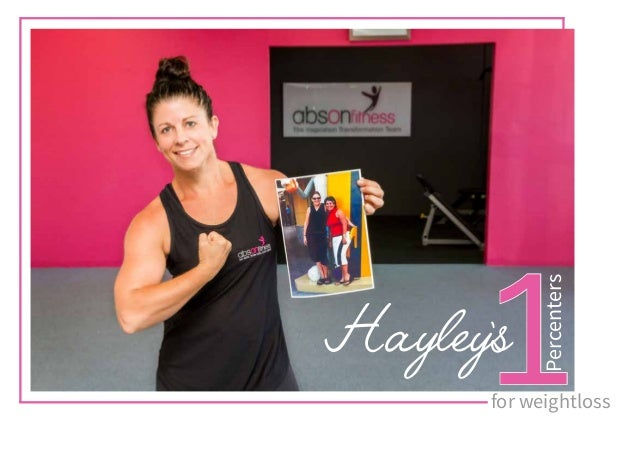 Hayley's1 Percenters for weightloss