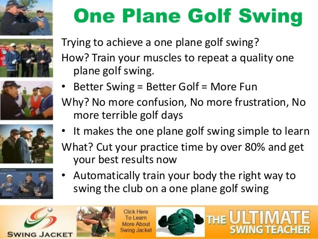 One Plane Golf SwingTrying to achieve a one plane golf swing?How? Train your muscles to repeat a quality one  plane golf s...