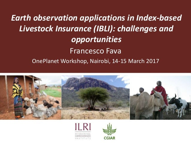 Earth observation applications in Index-based Livestock Insurance (IBLI): challenges and opportunities Francesco Fava OneP...