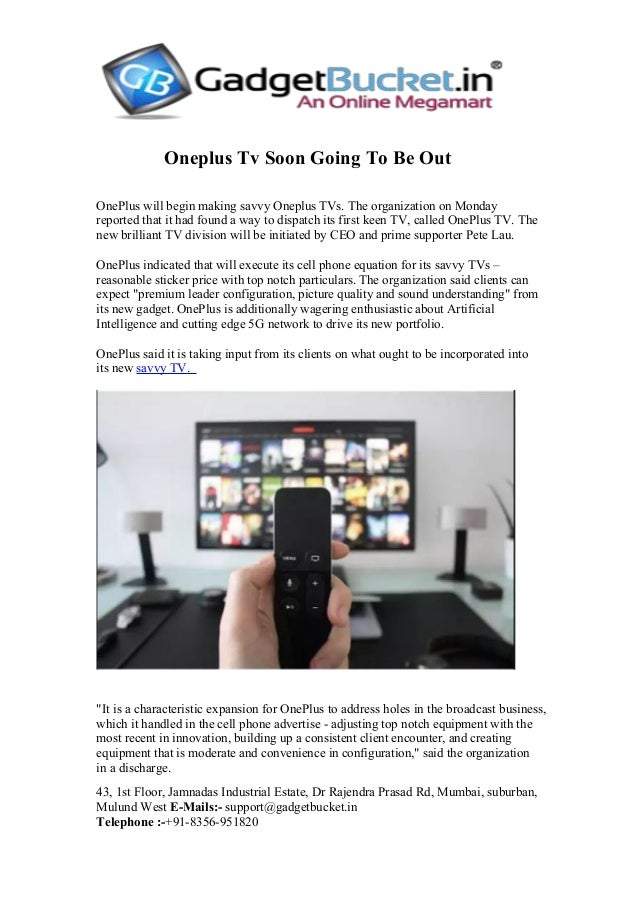 Oneplus Tv Soon Going To Be Out