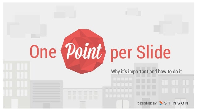 Why it's important and how to do it One per SlidePoint DESIGNED BY