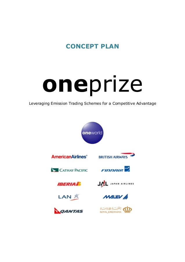 CONCEPT PLAN oneprize Leveraging Emission Trading Schemes for a Competitive Advantage