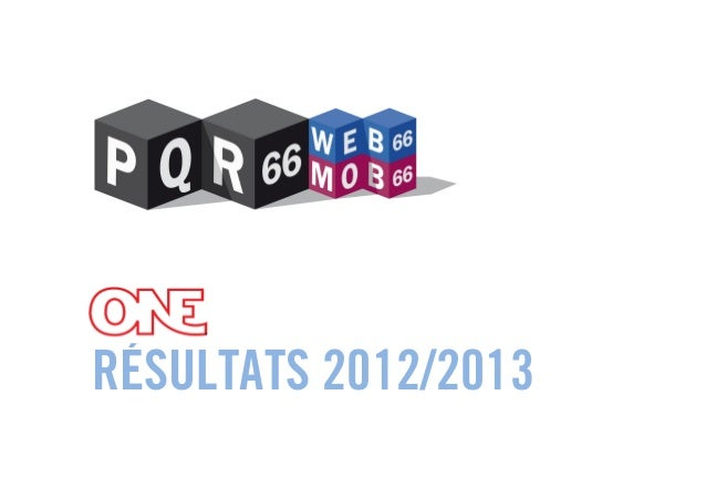 Audipresse ONE 2012/2013 - Principaux résultats d'audience