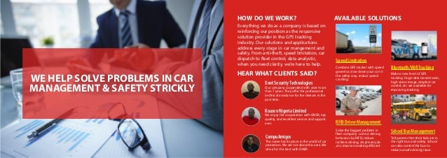 WE HELP SOLVE PROBLEMS IN CAR MANAGEMENT & SAFETY STRICKLY HOW DOWEWORK? AVAILABLE SOLUTIONS HEARWHAT CLIENTS SAID? Everyt...