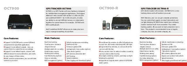 OCT900 is car GPS Tracker with new hardware, designed for multiple fleet management applications. The biggest difference w...