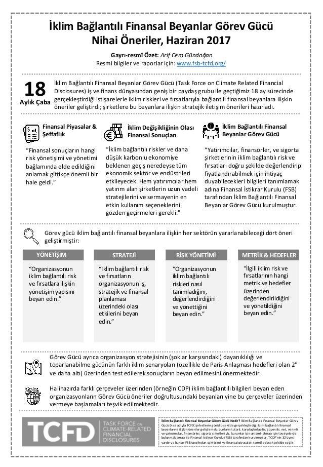 İklim Bağlantılı Finansal Beyanlar Görev Gücü Nihai Öneriler,Haziran 2017 18AylıkÇaba İklimBağlantılıFinansalBeyanlar...
