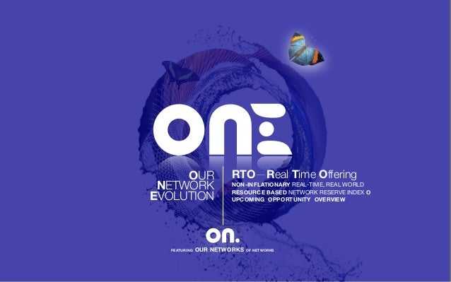 OUR NETWORK EVOLUTION FEATURING OUR NETWORKS OF NETWORKS RTO—Real Time Offering NON-INFLATIONARY REAL-TIME, REAL WORLD RES...