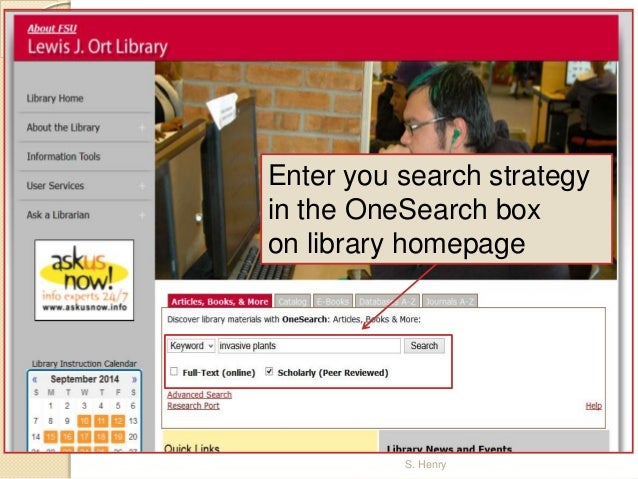 OneSearch Article Access at Frostburg State Univ.: Off-Campus Access Slide 2