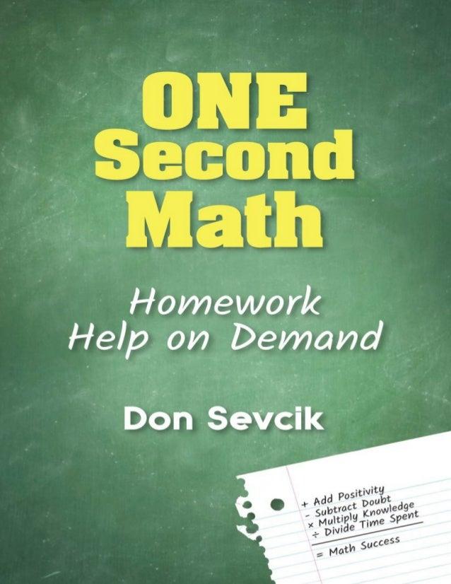 One Second Math: Homework Help on Demand