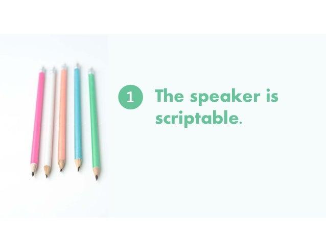 STEP #3:  YOUR SPEAKER