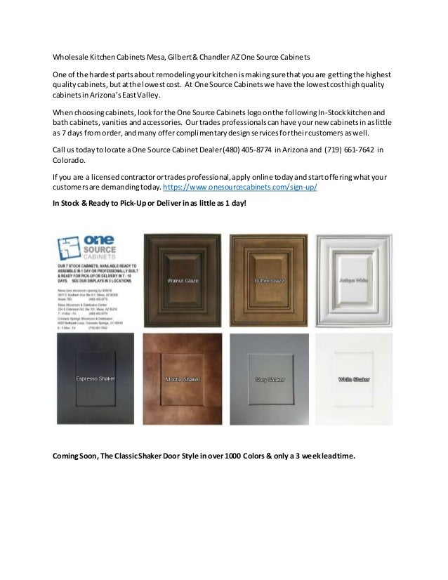 One Source Cabinets Wholesale Kitchen Cabinets Mesa Gilbert Chandler