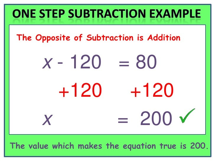 Solving One Step Equations – One Step Equation Worksheets