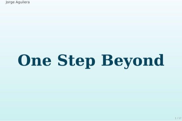 One Step Beyond ... la docu de tu proyecto