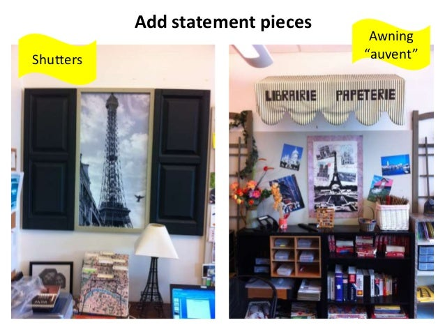 """Add statement pieces Shutters Awning """"auvent"""""""