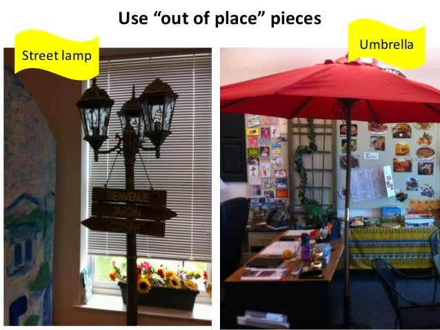 """Use """"out of place"""" pieces Umbrella Street lamp"""