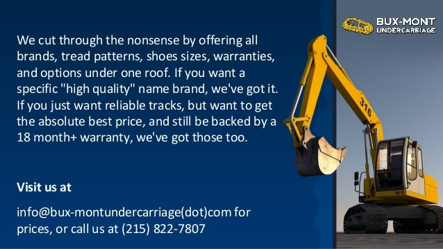 One stop shop for undercarriage parts for bulldozer, excavator &