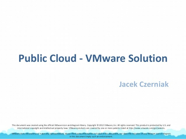 Public Cloud - VMware Solution Jacek Czerniak This document was created using the official VMware icon and diagram library...