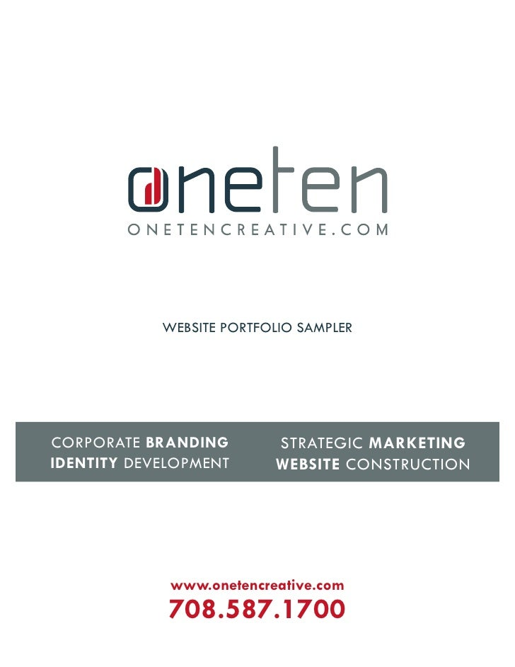 website portfolio sampler                               strategiC marketing Corporate Branding identity Development      w...